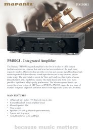 PM5003 - Integrated Amplifier PM5003 - Reference Audio