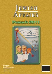 Pesach 2011 - South African Jewish Board of Deputies