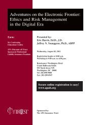 Adventures on the Electronic Frontier: Ethics and Risk ... - The Trust