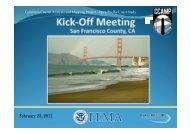 San Francisco Kick-Off Meeting Presentation - FEMA Region 9