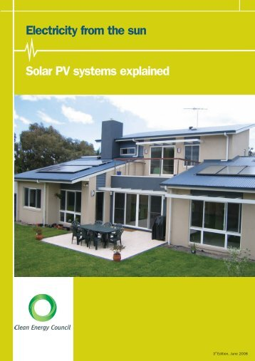 Electricity from the sun Solar PV systems ... - La Trobe University