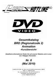 Gesamtkatalog BRD (Regionalcode 2) Animation Nr ... - Laser Hotline