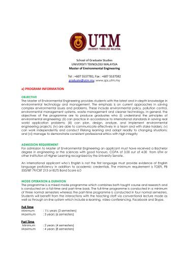 Program Information - School Of Graduate Studies - Universiti ...