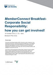 MemberConnect Breakfast - Queensland Law Society