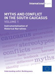 myths and conflict in the south caucasus - International Alert