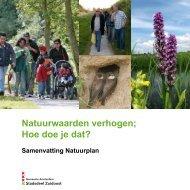 Samenvatting Natuurplan - Stadsdeel Zuidoost - Gemeente ...