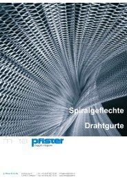 Prospekte - E. Pfister & Cie AG