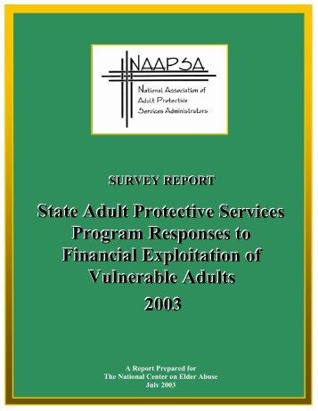 Survey Report - National Center on Elder Abuse - Administration on ...