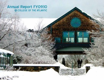 Annual Report FY09|10 - College of the Atlantic