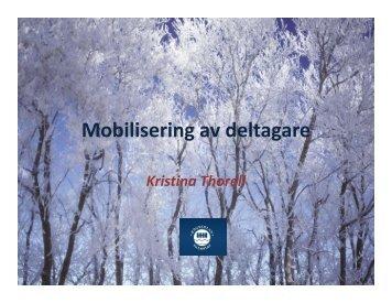 Mobilisering av deltagare
