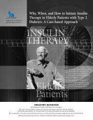 Why, When, and How to Initiate Insulin Therapy in ... - CMEcorner.com