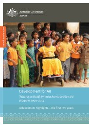 Development for All: Towards a disability-inclusive ... - AusAID