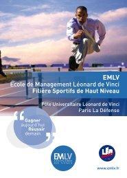 École de Management Léonard de Vinci Filière Sportifs de ... - IIM