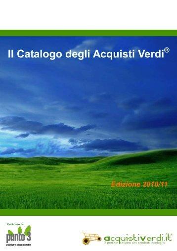 Il Catalogo degli Acquisti Verdi 2010 2011 - Provincia di Firenze