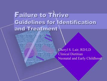 Guidelines For Identification And Treatment