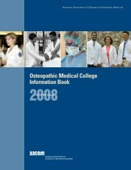 Osteopathic Medical College Information Book 2008 - IAOMC