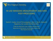 In-Use Emissions Measurement and Data Post-Processing