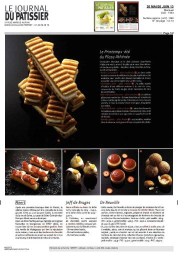 Le journal du Pâtissier - 20 mai 2013 - Meert