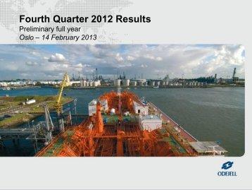 4th Quarter Presentation 2012 - Odfjell