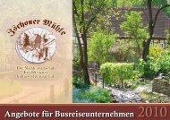 Angebote für Busreiseunternehmen - Zschoner Mühle