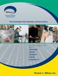 Heat Exchanger Tube Expanders & Accessories - Thomas C. Wilson