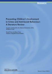 Preventing Children's Involvement in Crime and Anti-Social Behaviour
