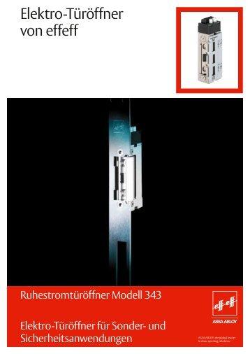 Sicherheitstüröffner Ruhestrom Modell 343 - ASSA ABLOY