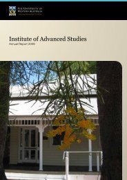 Institute of Advanced Studies - The University of Western Australia
