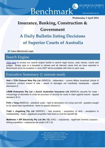 benchmark_02-04-2014_insurance_banking_construction_government