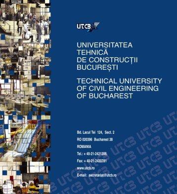 universitatea tehnică de construcţii bucurești technical university of ...