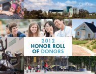 2012 HONOR ROLL OF DONORS - Giving at UC San Diego