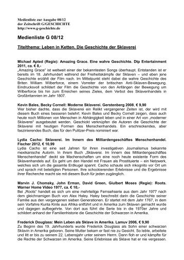 Heft 08/2012 - G/Geschichte