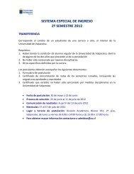 sistema especial de ingreso 2º semestre 2012 - Universidad de ...