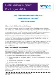ECIS FSP Questions and Answers - Scope