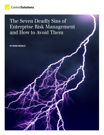 The Seven Deadly Sins of Enterprise Risk Management and How to ...