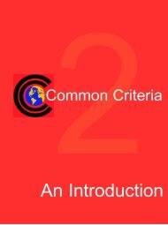An Introduction - Common Criteria Evaluation and Validation Scheme