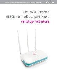 SWC 9200 Seowon MEZON 4G marÃ…Â¡ruto parinktuvo vartotojo ...