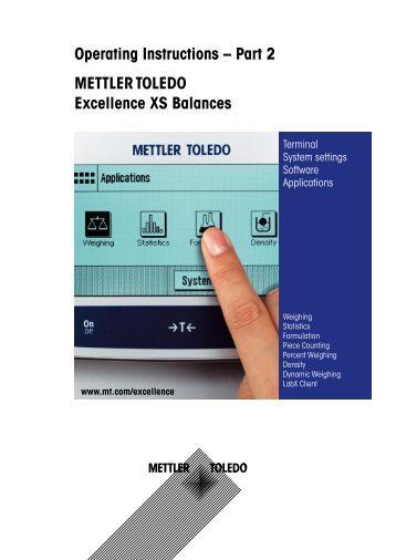 Mettler toledo ps30 Manual