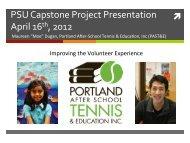 PSU Capstone Project Presentation April 16th, 2012 - PSU CS