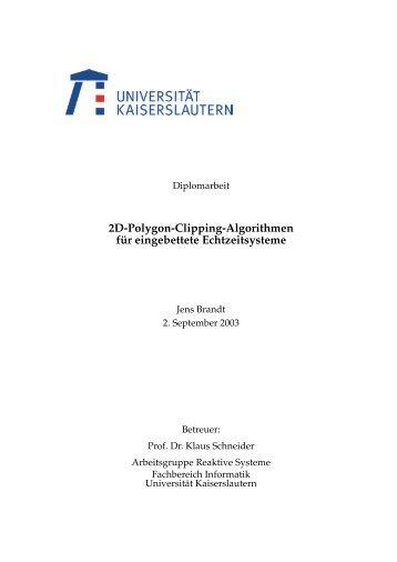 2D-Polygon-Clipping Algorithmen für eingebettete Echtzeitsysteme