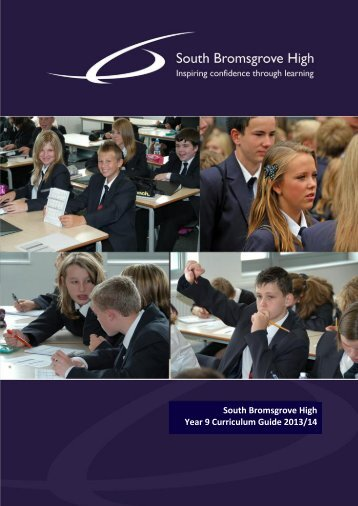 Year 9 Curriculum Guide - South Bromsgrove High School ...