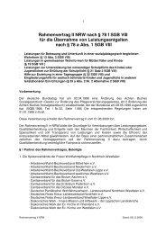 Rahmenvertrag II NRW nach § 78 f SGB VIII für die Übernahme von ...