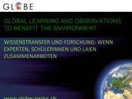 Wissenstransfer und Forschung - Naturpark Gantrisch