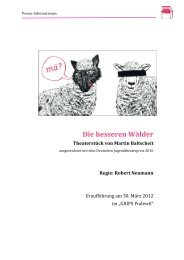 Neue Pressemappe DIE BESSEREN WÄLDER - GRIPS Theater