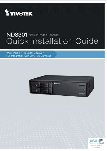 Vivotek ND8301 Installation Guide - Use-IP