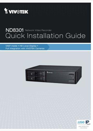 Vivotek ND8301 Installation Guide - Use-IP