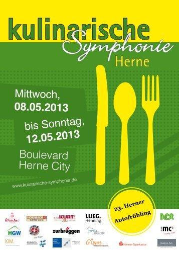 Programmheft - Kulinarische Symphonie Herne