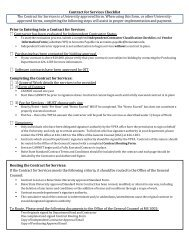 Contract for Services Checklist The Contract for Services is a ...
