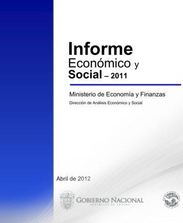 Informe Economico y Social - Diciembre 2011 - Ministerio de ...