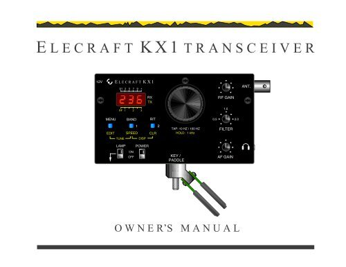 KX1 Manual - Elecraft